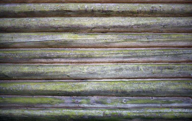 Registros de madera viejos fotografía de archivo