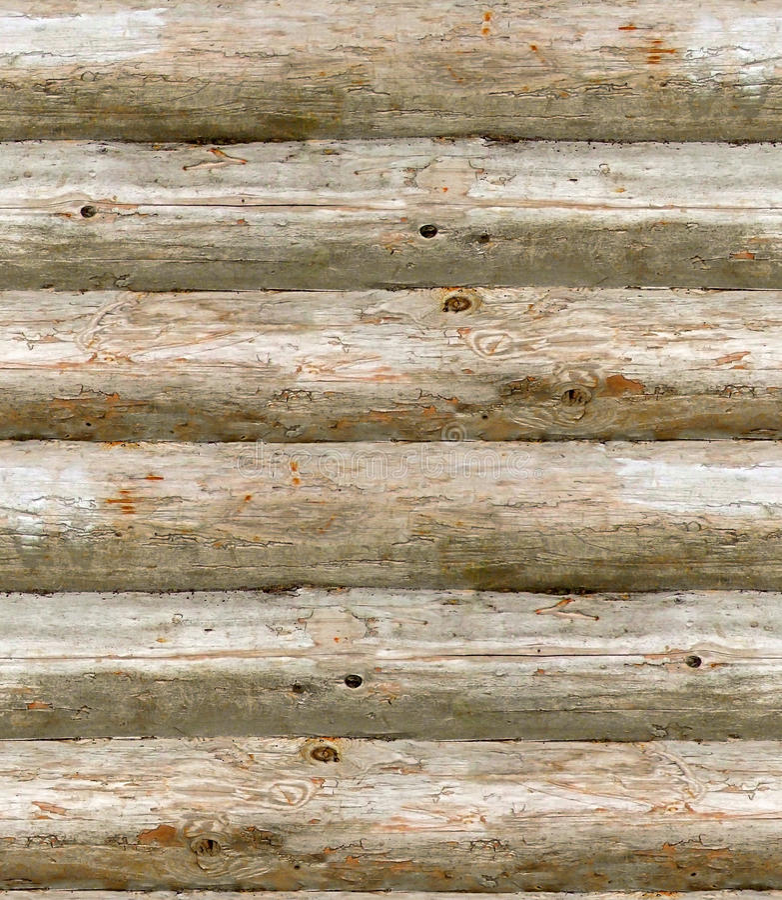 Registros de madera viejos inconsútiles imagen de archivo