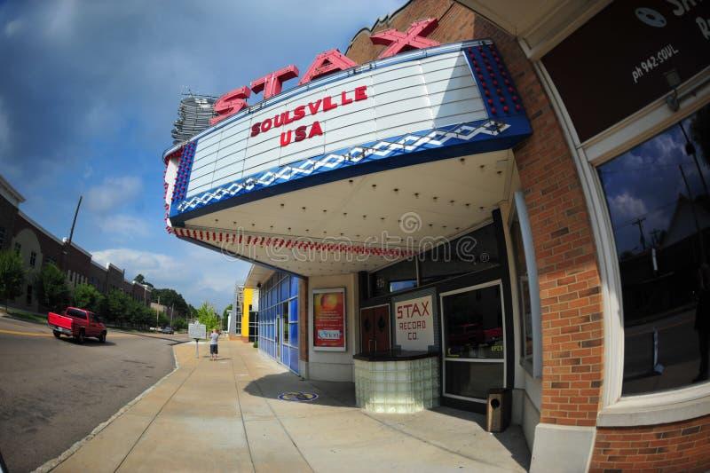 Registros de STAX, Memphis, TN imagens de stock