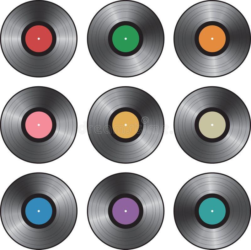 Registros de vinil do LP ilustração do vetor