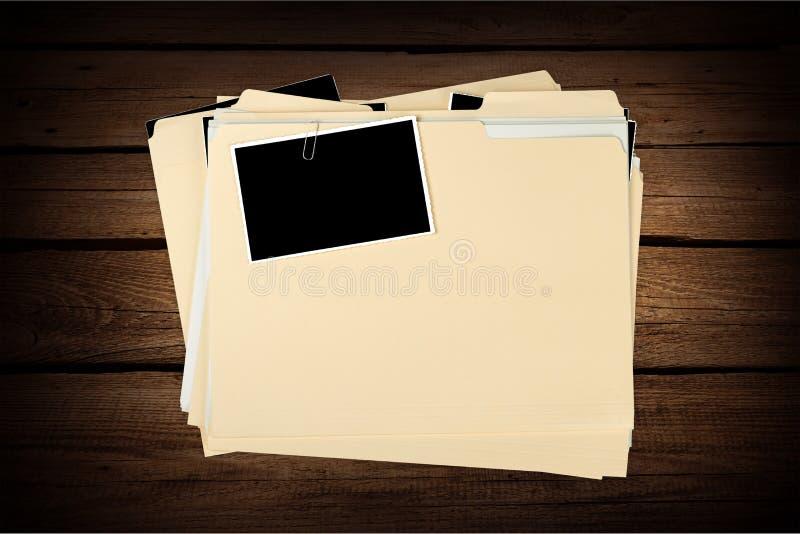 Registros do arquivo imagens de stock