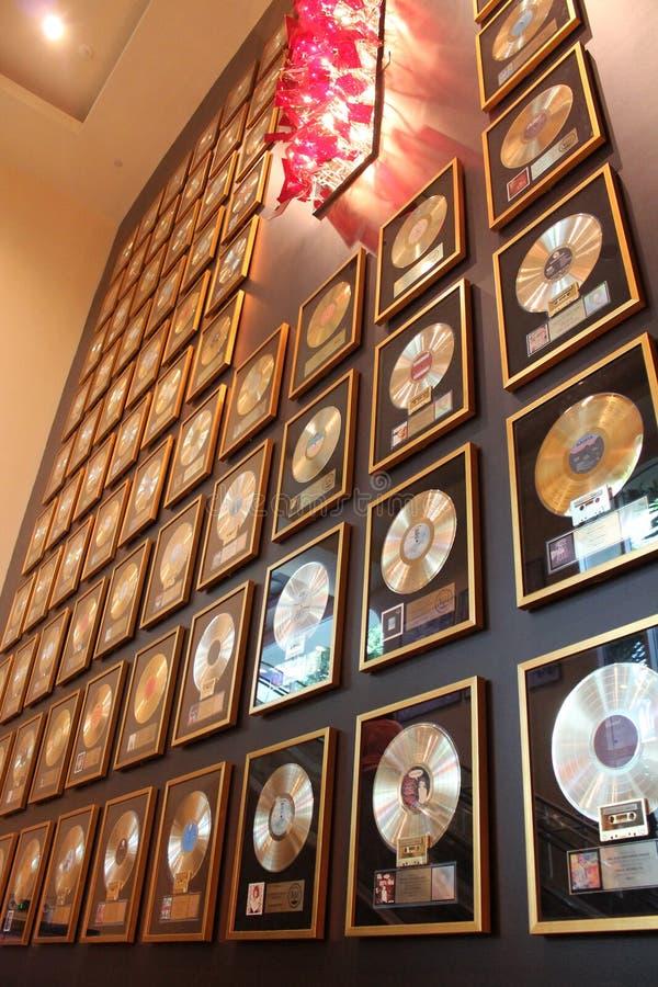 Registros do ouro imagens de stock