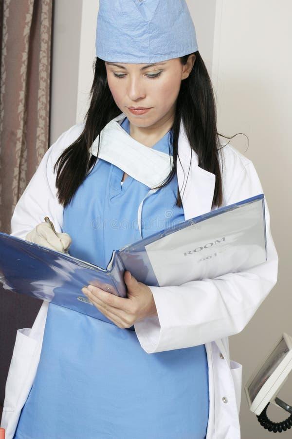 Registros pacientes imagem de stock
