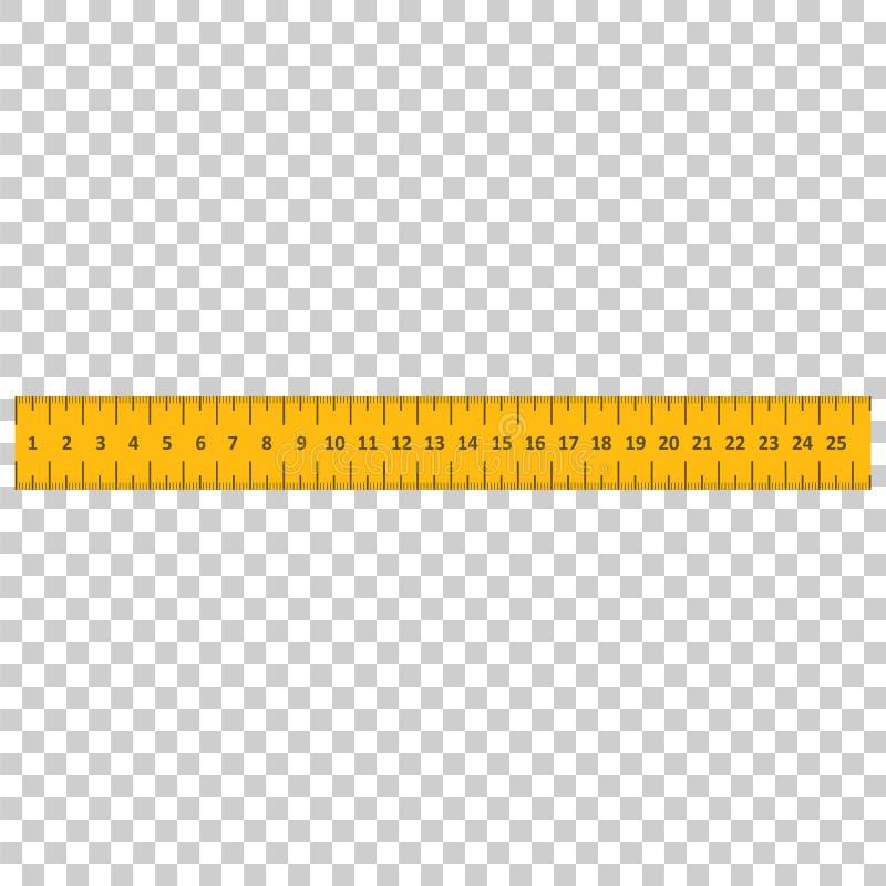 Regla amarilla Instrumento del ejemplo del vector de la medida libre illustration