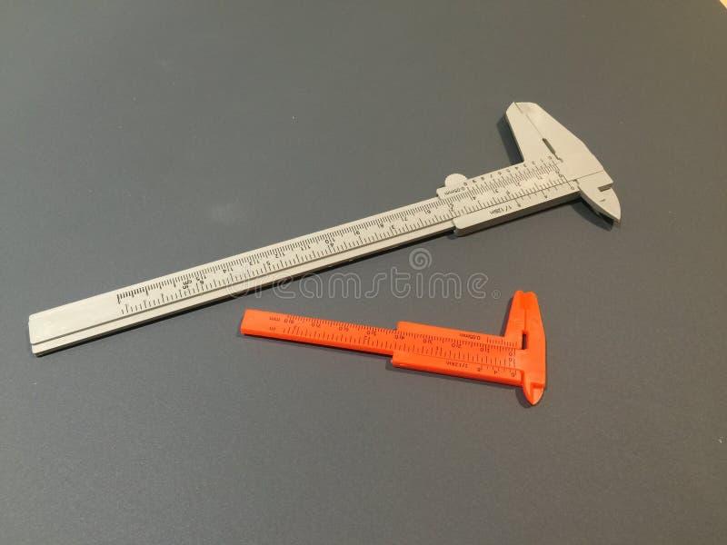 Regla anaranjada y gris de la calibración del color imagen de archivo libre de regalías