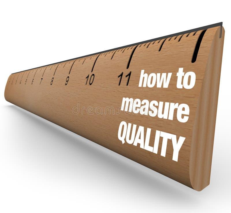 Regla - cómo medir proceso de la mejora de calidad stock de ilustración