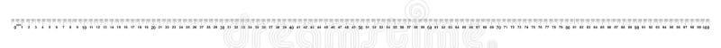 Regla 100 centímetros Regla 1000 milímetros Valor de la división 0 5 milímetros Dispositivo exacto de la medida de la longitud Re ilustración del vector