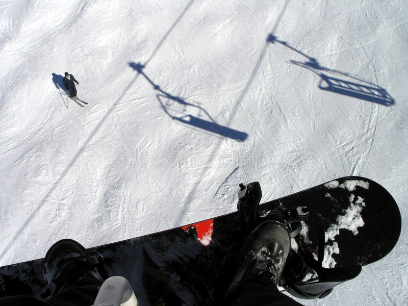 Regla de los Snowboarders foto de archivo