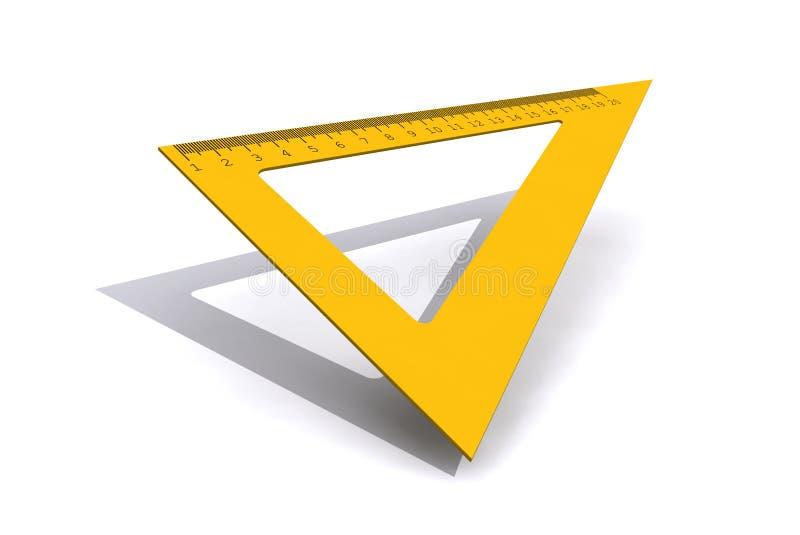 Regla del triángulo aislada en el fondo blanco foto de archivo