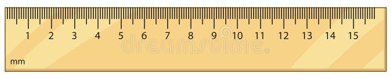 Regla del vector del esquema ilustración del vector
