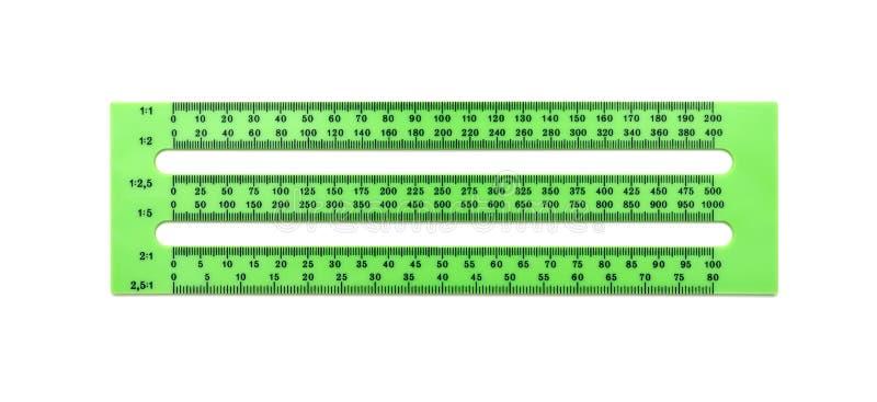 Regla plástica verde imagen de archivo libre de regalías