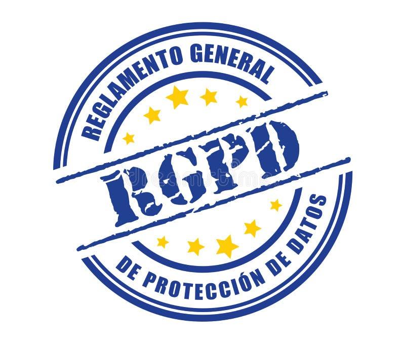 Reglamento General DE Proteccion DE Datos RGPD royalty-vrije illustratie