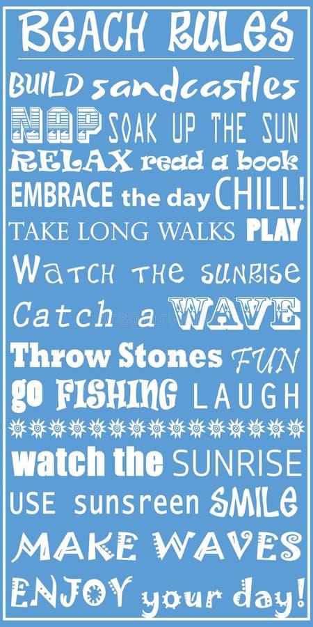 Reglas de la playa libre illustration