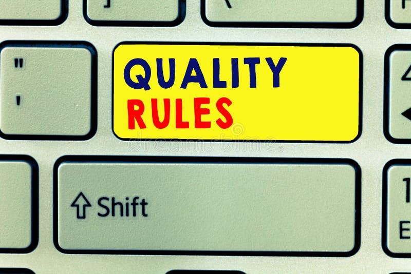 Reglas de las regulaciones de la escritura del texto de la escritura El concepto que significa procedimiento estándar de la decla imagenes de archivo