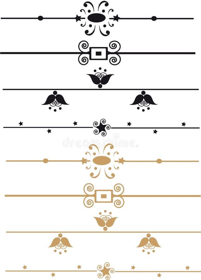 Reglas ornamentales stock de ilustración