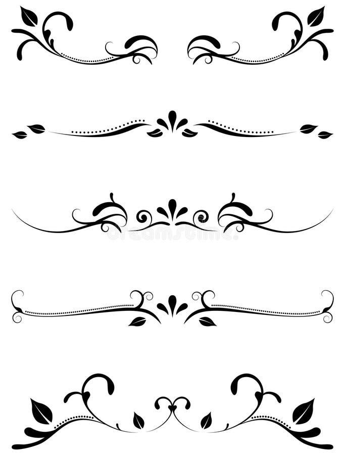 Reglas ornamentales decorativas libre illustration