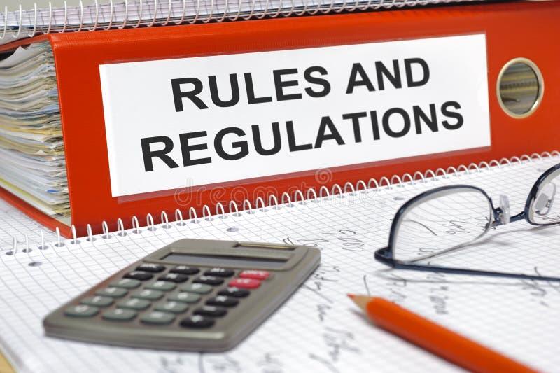Reglas y regulaciones imagen de archivo libre de regalías