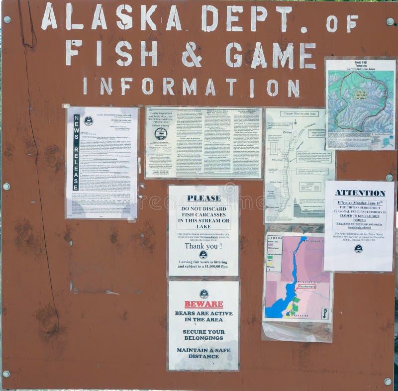 Reglas y regulaciones para los residentes que pescan para los salmones en Alaska imagen de archivo libre de regalías