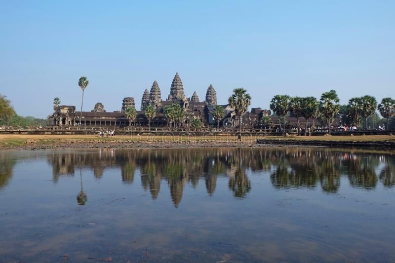 Reglections Angkor wat obrazy stock