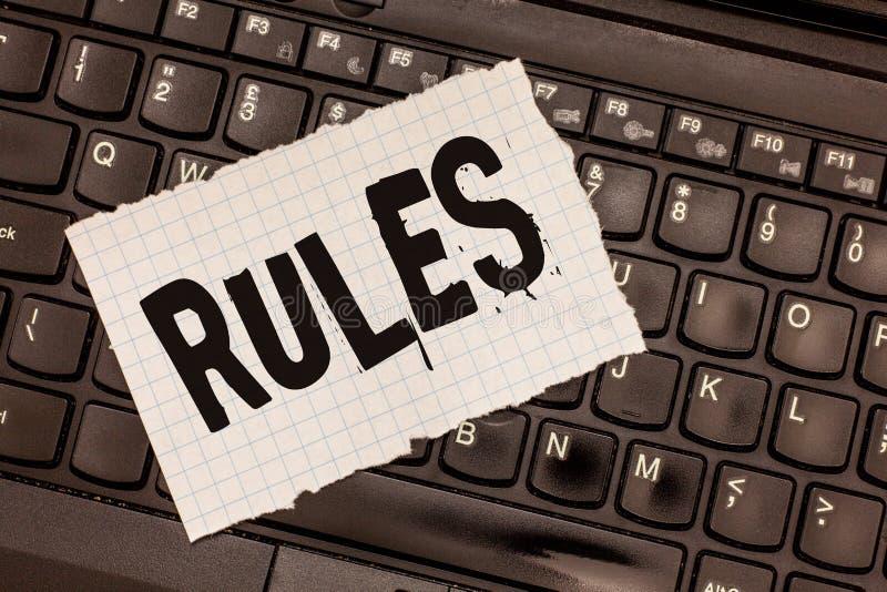 Regler för ordhandstiltext Affärsidé för ultimat maktmyndighet för övning över område och dess folkreglering royaltyfria bilder