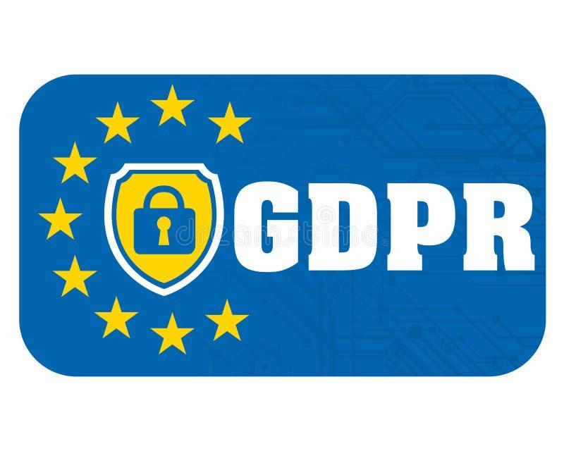 Reglering för skydd för allmänna data royaltyfri illustrationer