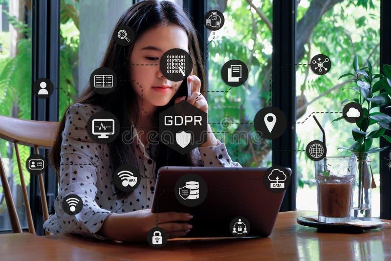 Reglering för skydd för allmänna data royaltyfria bilder