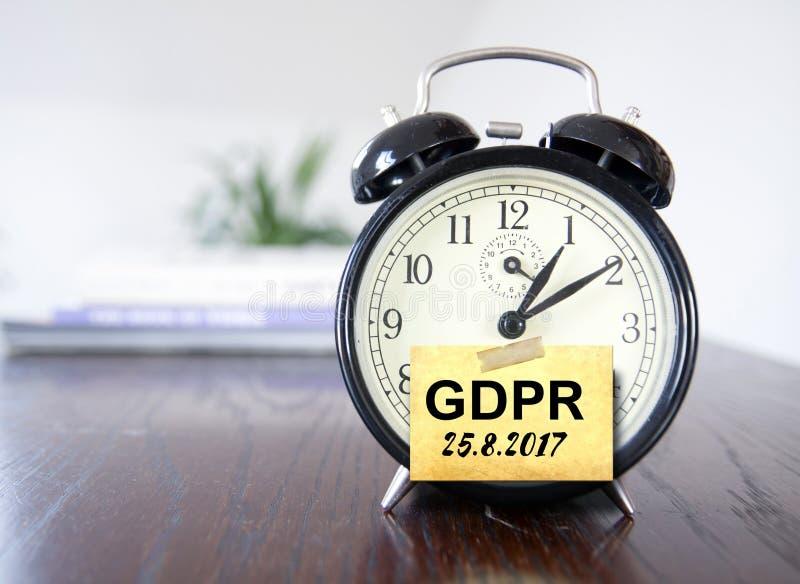 Reglering för skydd för allmänna data för GDPR royaltyfri bild