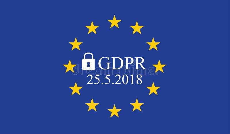 Reglering GDPR för skydd för allmänna data royaltyfri illustrationer