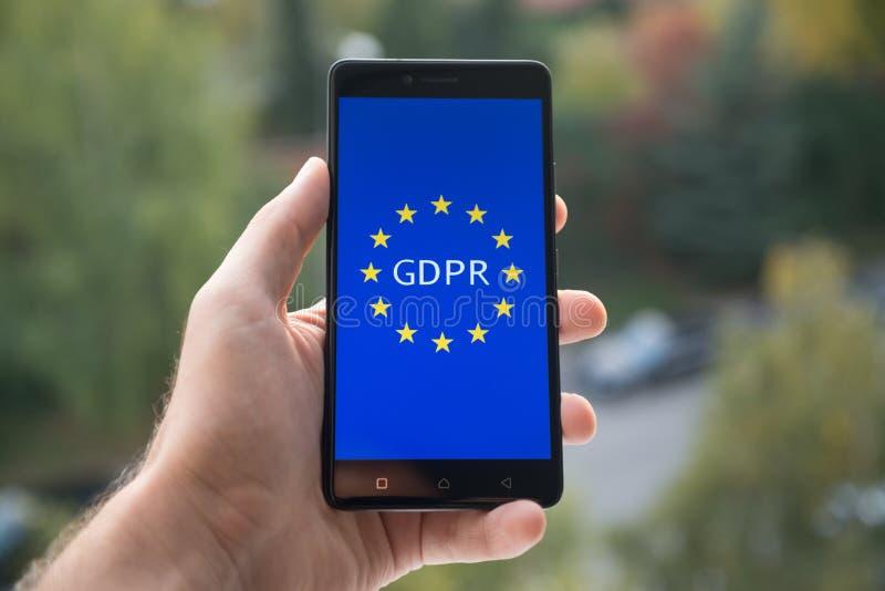 Reglering GDPR för skydd för allmänna data royaltyfri foto