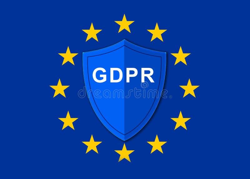 Reglering GDPR för skydd för allmänna data arkivbild