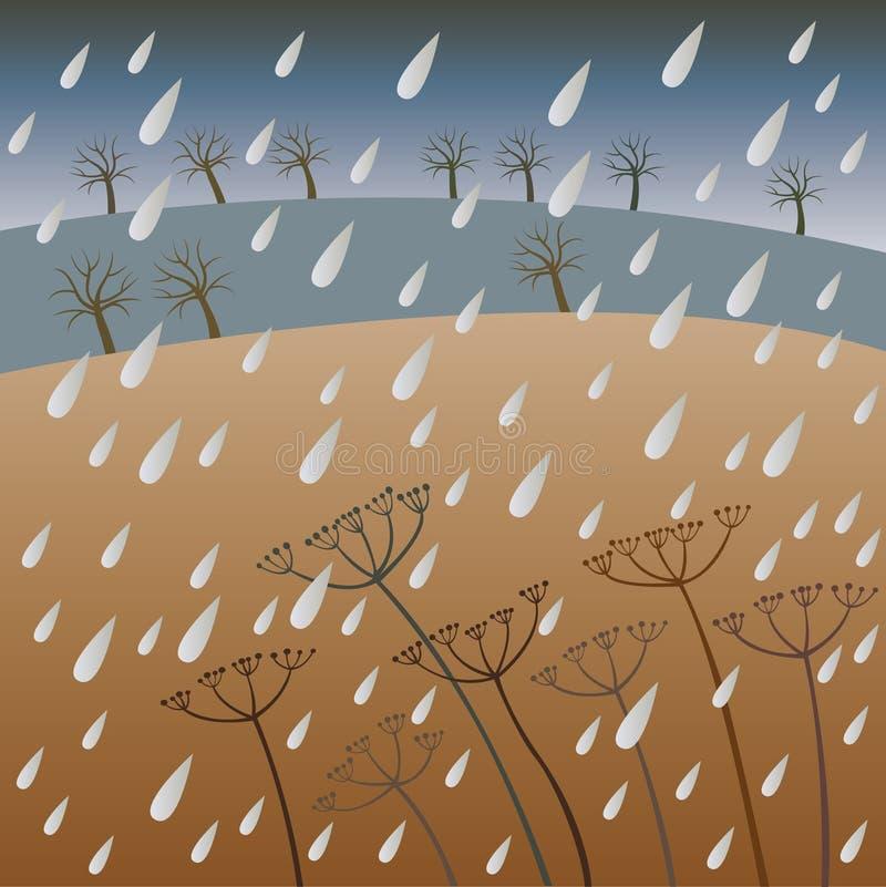 regn vektor illustrationer