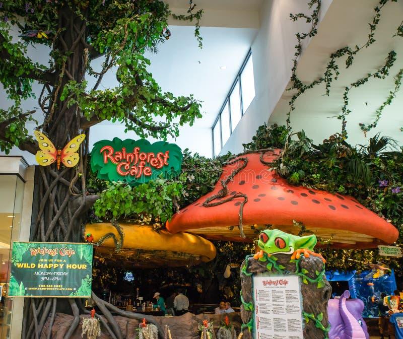 Regn Forest Cafe royaltyfria bilder