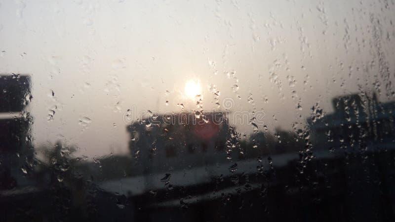 Regn, innan mornning royaltyfri bild