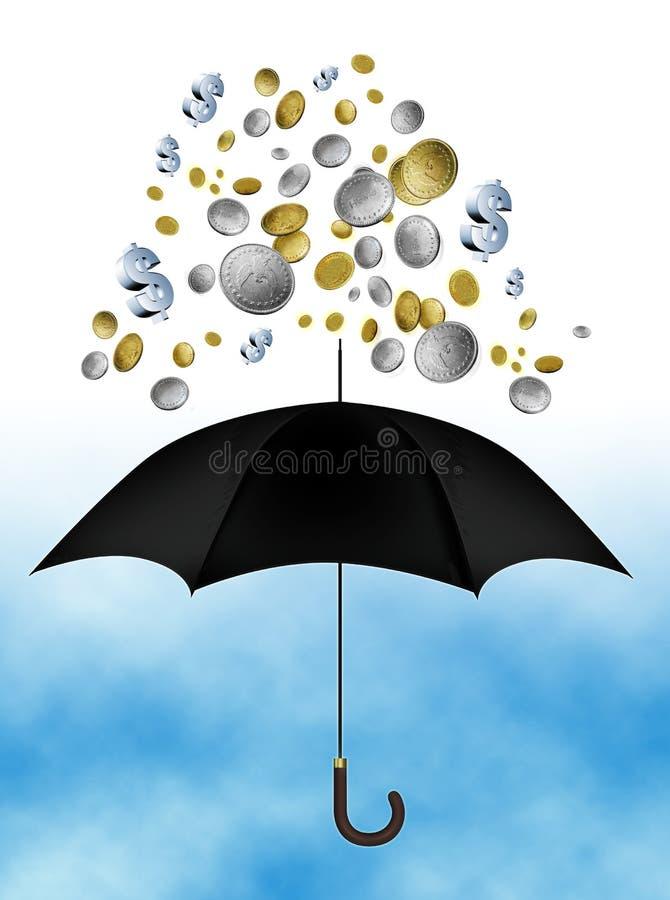 regna för pengar vektor illustrationer