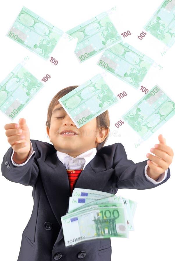 regna för pengar arkivbilder