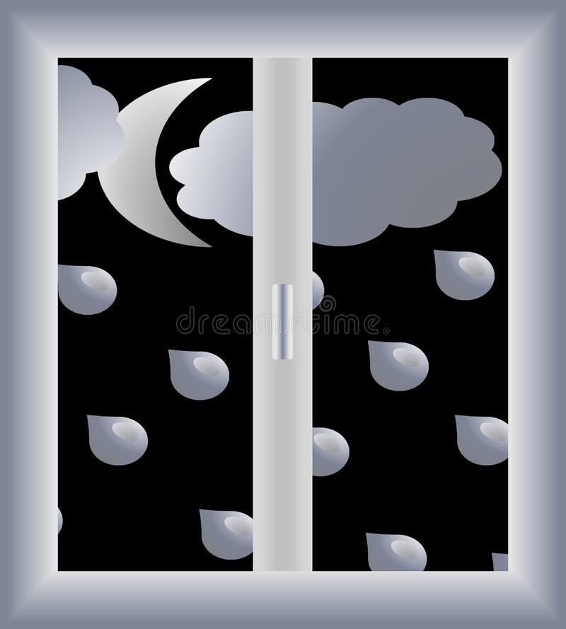 Regna utomhus- vektor illustrationer