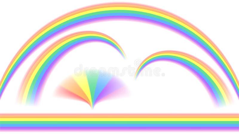 Regnbågar i olik form vektor illustrationer