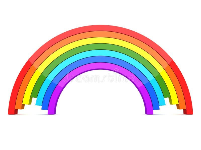 regnbåge 3d stock illustrationer