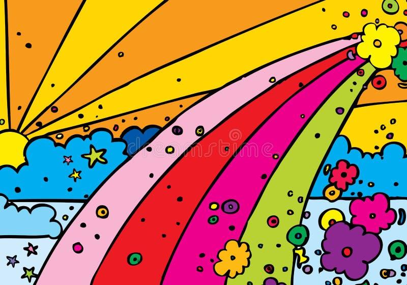 regnbåge vektor illustrationer