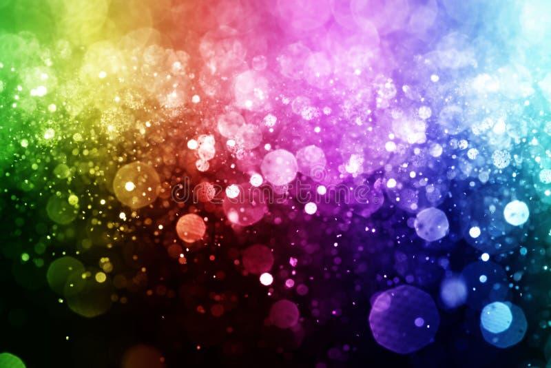 Regnbåge av ljus arkivfoto