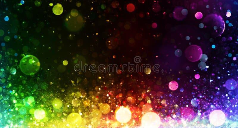 Regnbåge av ljus - parti arkivbild