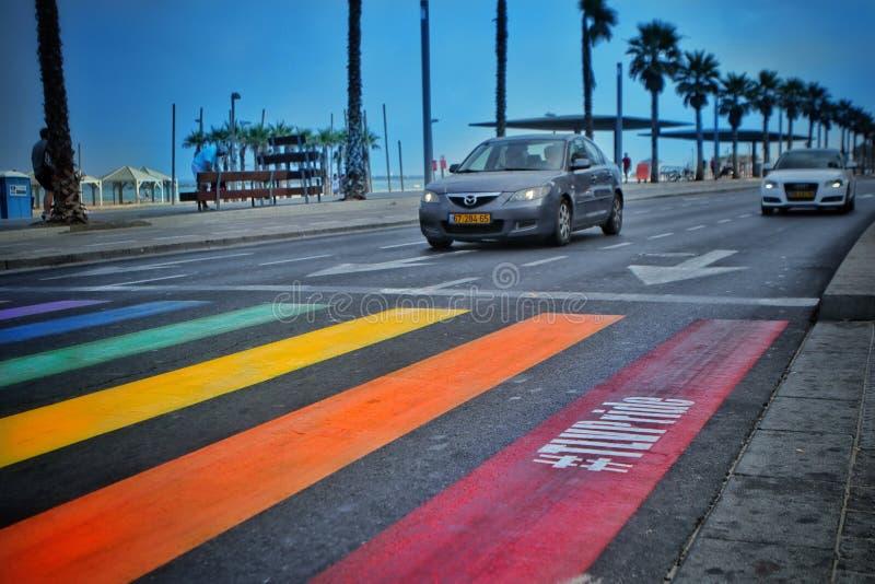 regnbåge av Tel Aviv royaltyfria foton