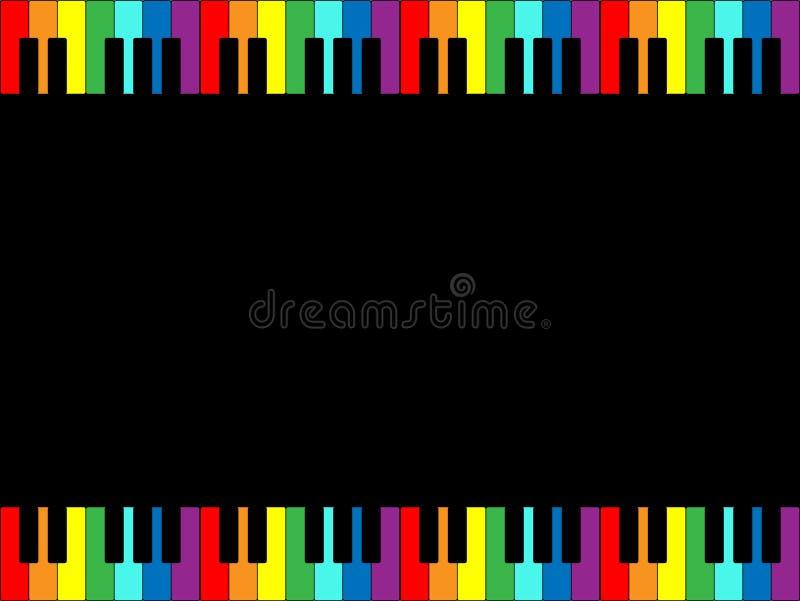 regnbåge för kanttangentbordpiano vektor illustrationer