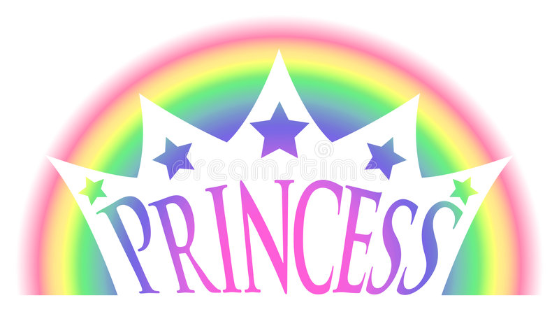 regnbåge för kronaprincess royaltyfri illustrationer
