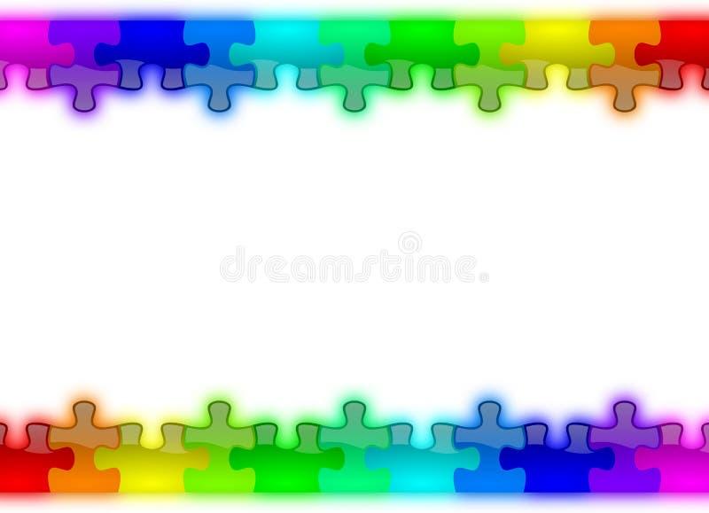 regnbåge för pussel för bakgrundsfärg glansig royaltyfri illustrationer