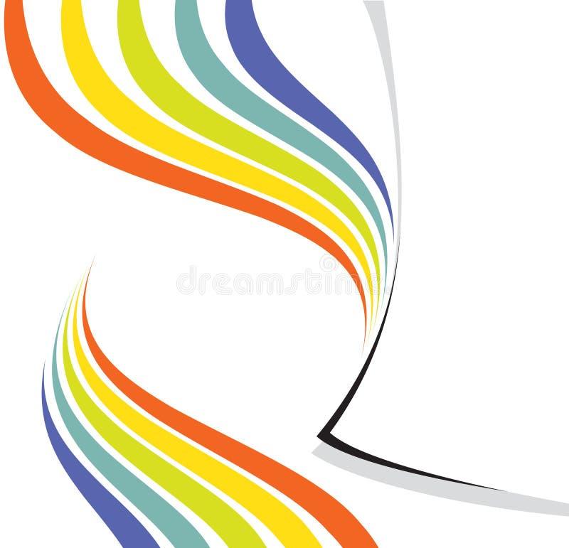 regnbåge för sida för designorientering royaltyfri illustrationer