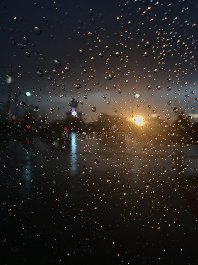 Regnbåge för solregneftermiddag royaltyfri bild