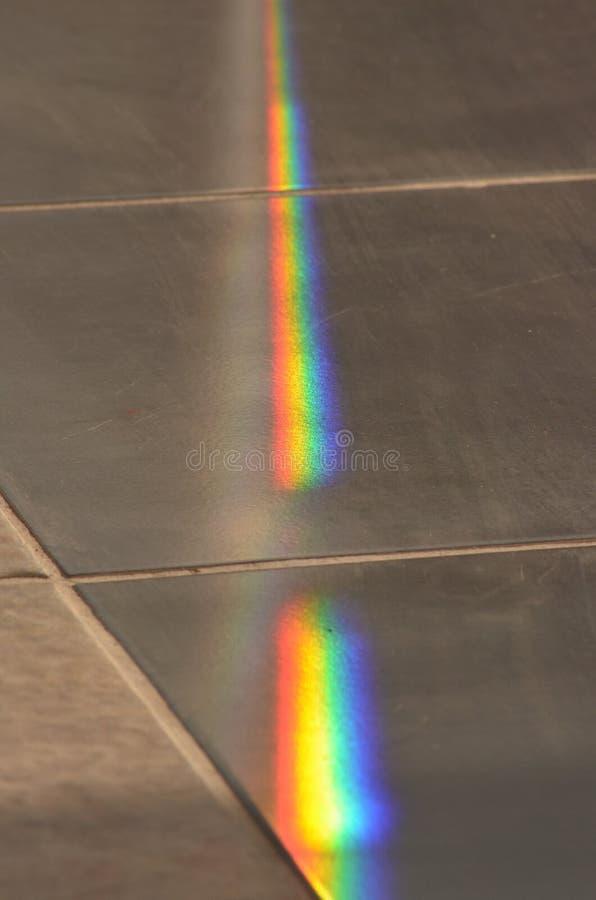 Regnbåge på golvet royaltyfri foto