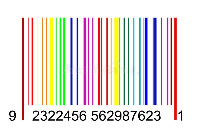 Regnbågebarcode stock illustrationer