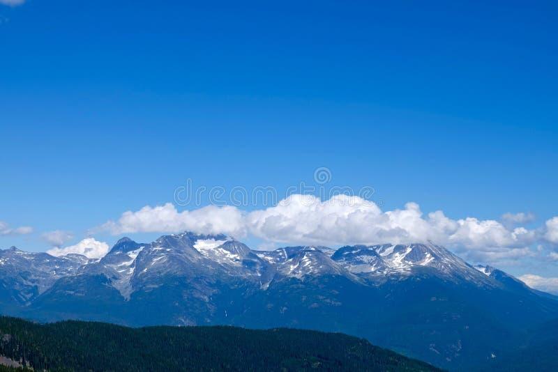 Regnbågeberg med moln mot blå himmel fotografering för bildbyråer